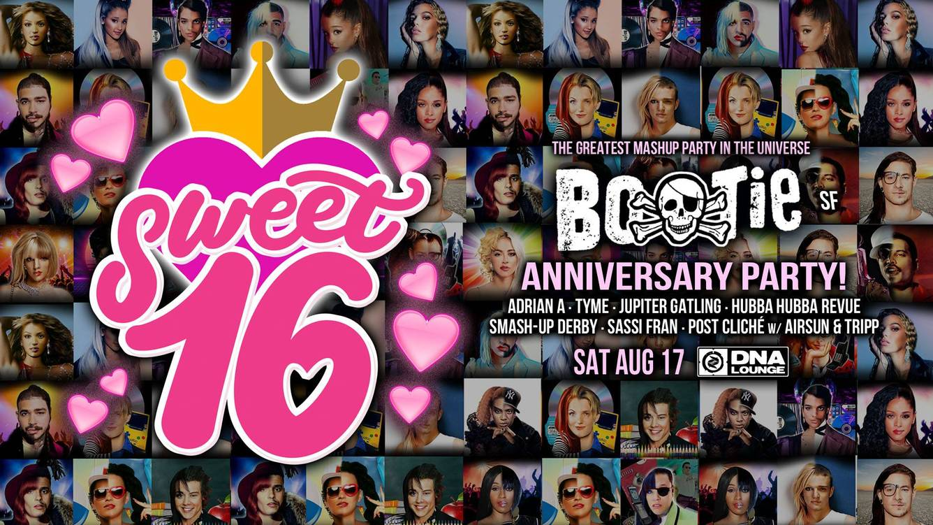 BOOTIE SF: SWEET 16 ANNIVERSARY PARTY! 2019 - San Francisco